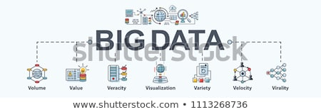 Big data visualization concept banner header. Stock photo © RAStudio