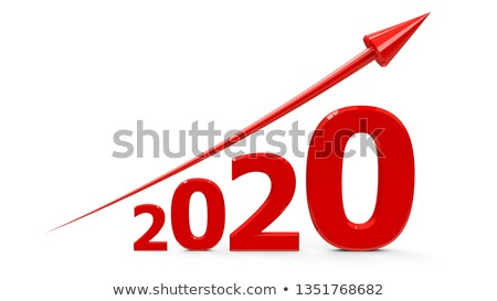 Red arrow up with 2020 Stock photo © Oakozhan