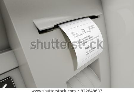 ATM makbuz görmek baskı Stok fotoğraf © albund