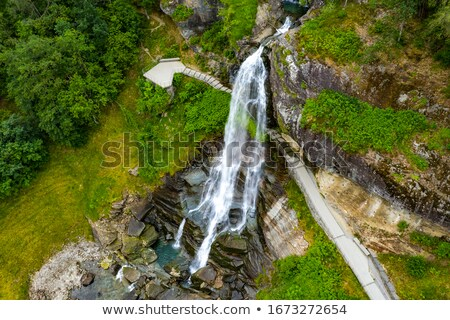 водопад Норвегия один популярный туристических маршрут Сток-фото © Kotenko
