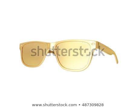 Stok fotoğraf: Altın · gözlük · fotoğraf · gölge · yalıtılmış · beyaz