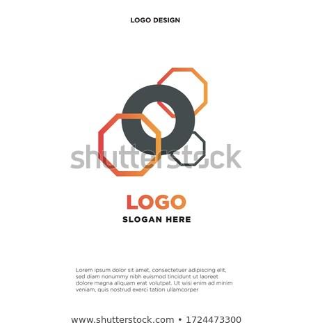 Ciência símbolo molecular logotipo isolado branco Foto stock © kyryloff