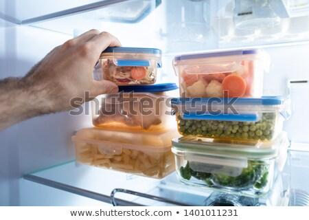 Strony pojemnik mieszany warzyw zamrożone Zdjęcia stock © AndreyPopov