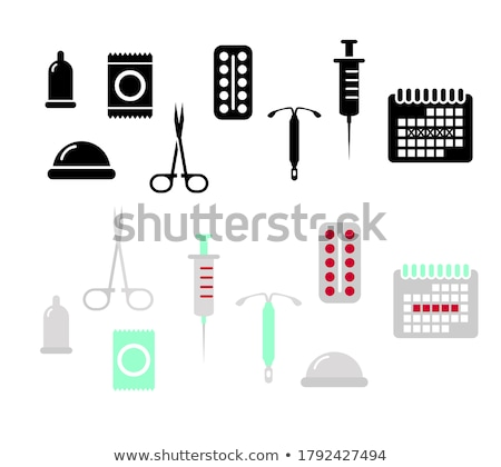 Contraception Day set Stock photo © netkov1