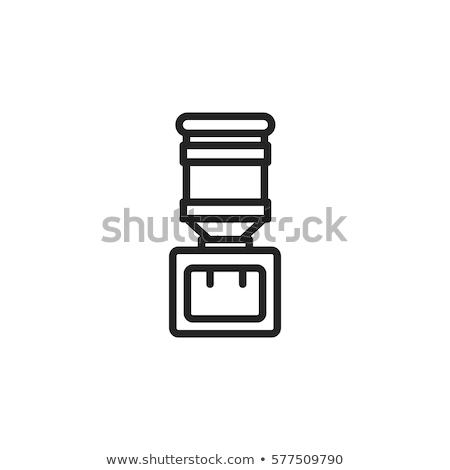 Ikona wody urządzenie dzban kran Zdjęcia stock © netkov1