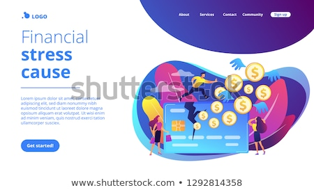 Overspending concept landing page. Stock photo © RAStudio