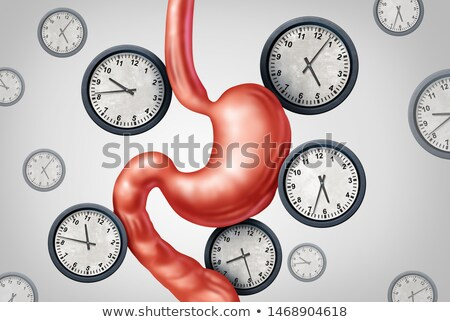 Stockfoto: Genezen · beperkt · eten · dieet · schema