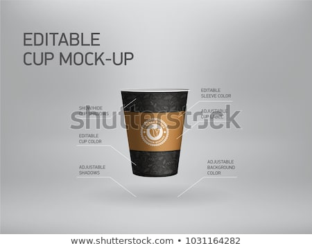croissant and paper coffee cup breakfast vector illustration stock photo © cidepix