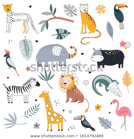 Wildlife animal leu vector Imagine de stoc © robuart