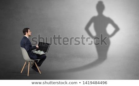 Zakenman aanbieden schaduw vrouw rijke mooie Stockfoto © ra2studio