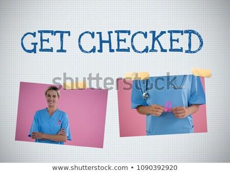 текста Рак молочной железы осведомленность фото коллаж цифровой композитный Сток-фото © wavebreak_media