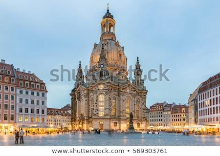 Dresde cathédrale Allemagne toujours importante Photo stock © borisb17