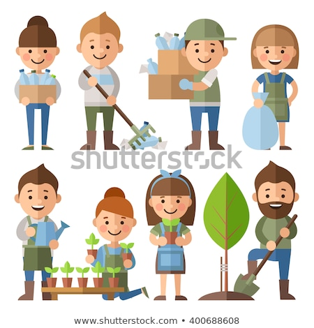 ecology   flat design style vector characters set stock photo © decorwithme