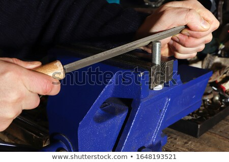 Bench vise, metal clamps for metal work - workbench vice tool fo Stock photo © Winner