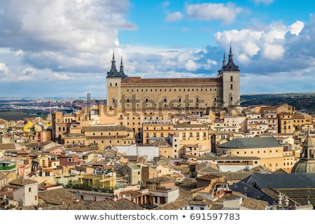 İspanya taş takviye Bina şehir manzara Stok fotoğraf © borisb17