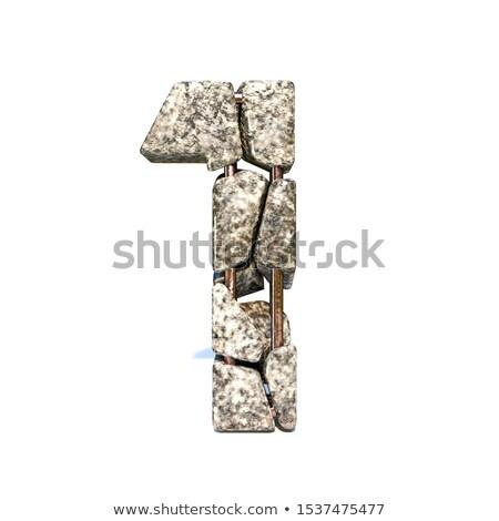 Beton breuk doopvont aantal een 3D Stockfoto © djmilic