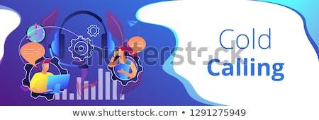 холодно призыв баннер оператор Сток-фото © RAStudio