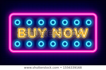 cyber monday poster and buy now neon link vector stock photo © robuart