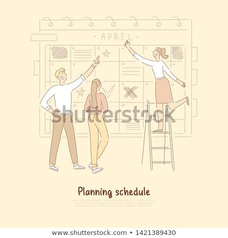 productividad · portapapeles · detallado · lápiz · negocios - foto stock © barsrsind