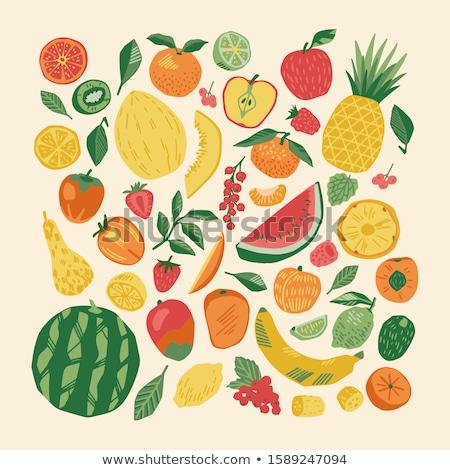 Vegan frutti pattern naturale taglio Foto d'archivio © artjazz