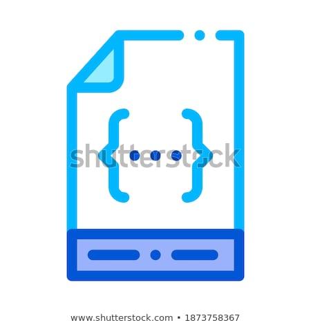 Pliku kodowanie wektora cienki line Zdjęcia stock © pikepicture