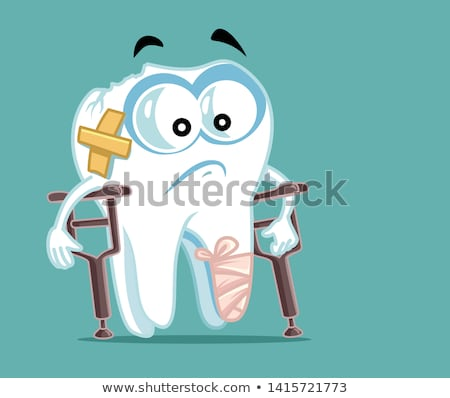Dentist Stomatology Unhealthy Tooth Vector Icon Stock photo © pikepicture