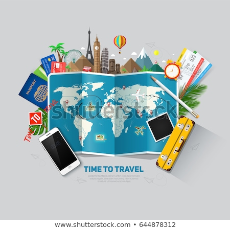 Globális utazás férfi nő választ úticél Stock fotó © RAStudio