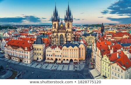 Historic street in the old town of Prague Stock photo © manfredxy