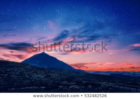 Naplemente kráter park Tenerife Kanári-szigetek Spanyolország Stock fotó © lightpoet