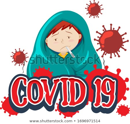 Fonte projeto palavra doente menino febre Foto stock © bluering