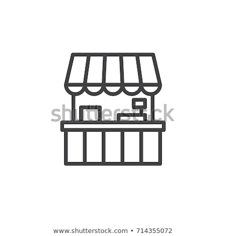 mobile food stall icon vector outline illustration Stock photo © pikepicture