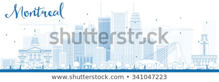 Montreal ufuk çizgisi mavi binalar Stok fotoğraf © ShustrikS