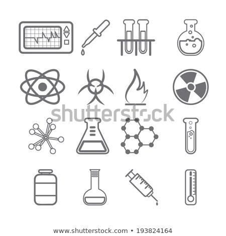науки иконки черный вектора веб СМИ Сток-фото © Palsur