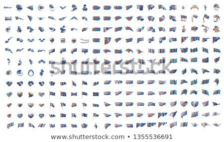 Grande coleção vetor bandeiras democrático república Foto stock © butenkow