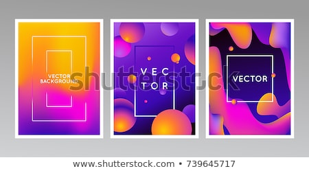 Abstract vloeistof frame banner Stockfoto © barsrsind