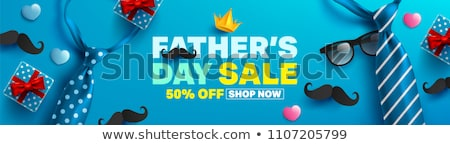 king fathers day concept banner with crown Stock photo © SArts