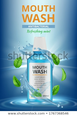 Mouthwash With Mint Advertising Poster Vector Stock photo © pikepicture