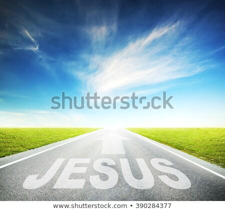 Иисус шоссе знак высокий разрешение графических облаке Сток-фото © kbuntu