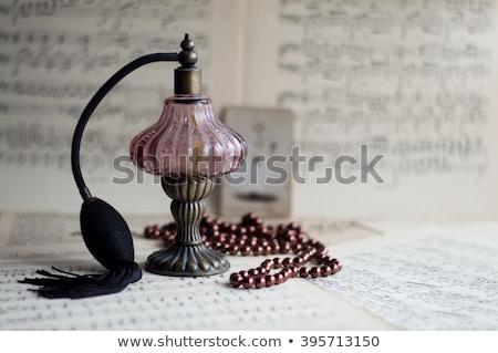 klasszikus · parfüm · üveg · nő · tart · kéz - stock fotó © dashapetrenko