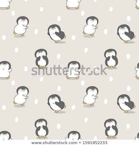 Pinguin baby liefde naar beneden te kijken eigen sneeuw Stockfoto © Soleil