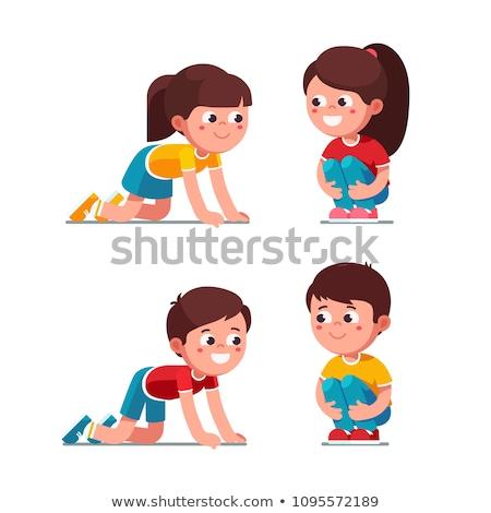 crawling girl Stock photo © zastavkin