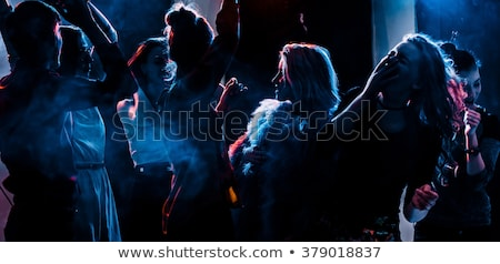 Dancing smoke girl Stock photo © Misha