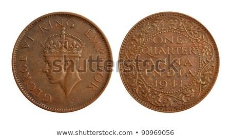Eski Hint para sikke bir çeyrek Stok fotoğraf © Akhilesh