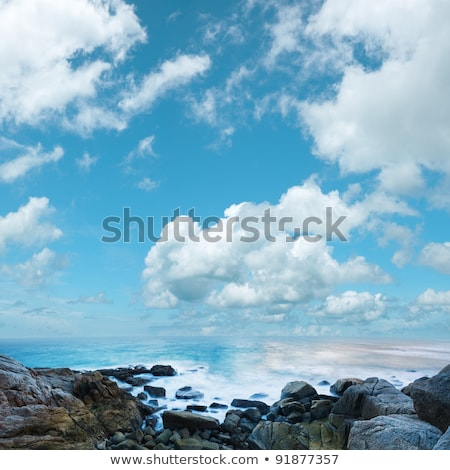 Beautiful morning seascape. Picture taken with long exposure. Sq Stock photo © moses