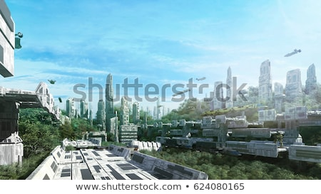 Scifi ville image avenir science-fiction ciel Photo stock © Spectral