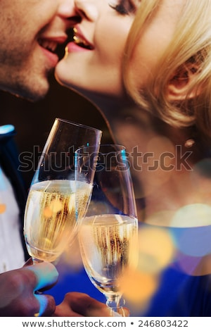 glamourous couple drinking champagne stock photo © photography33