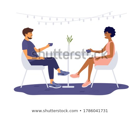 man and woman having coffee stock photo © photography33