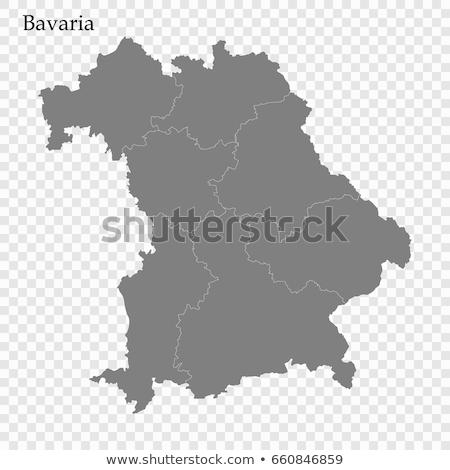 Map of Bavaria Stock photo © rbiedermann