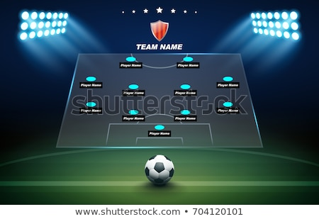 Football or soccer field and team formation Stock photo © stevanovicigor