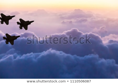 modern stealth fighter Stock photo © mechanik